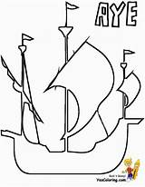 Ship Coloring Pirate Boys Tall Colorable Yescoloring Seas Pirates sketch template