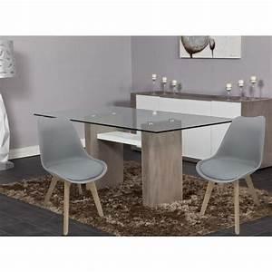 bjorn lot de 2 chaises scandinaves de salle a manger With chaise salle a manger grise