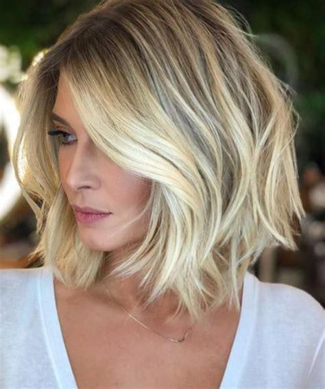 exceptional short blonde bob haircuts   women