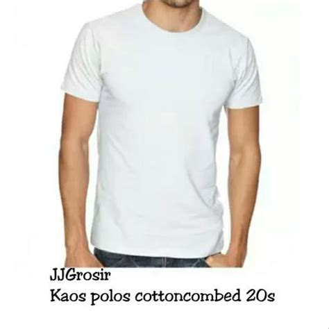 Kaos Polos Cotton Combad jual terbaru koas polos cotton combad 20s size l murah di