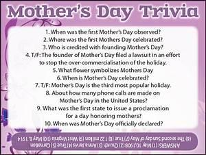 Mother's Day Trivia - Jamestown Gazette
