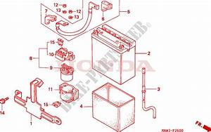 Battery For Honda Transalp 600 1996   Honda Motorcycles  U0026 Atvs Genuine Spare Parts Catalog