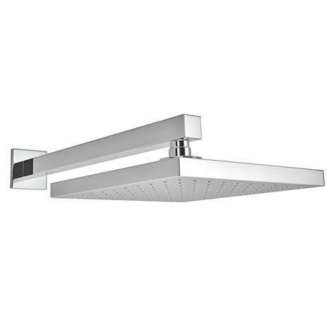 milan   mm fixed square shower head  wall