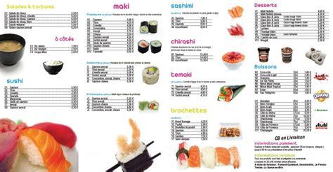 au bureau carte restaurant chrono sushi à pontault combault déco du