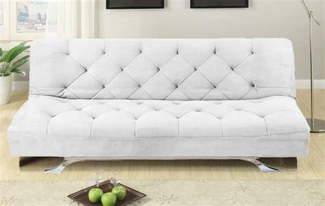 Sofa Divano Letto Reclinabile Salotto Microfibra Bianco 3