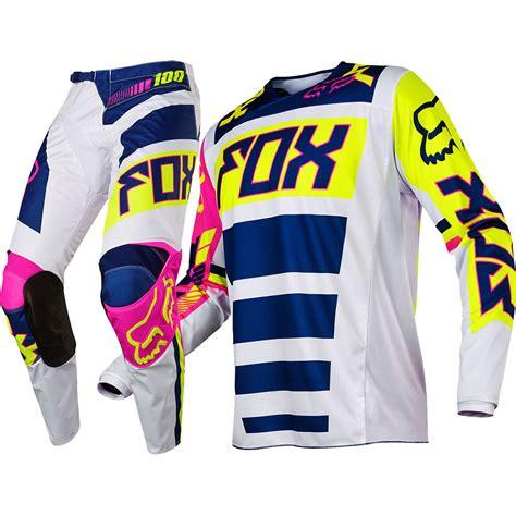 kids fox motocross gear fox 2017 kids mx new 180 falcon navy white flo yellow