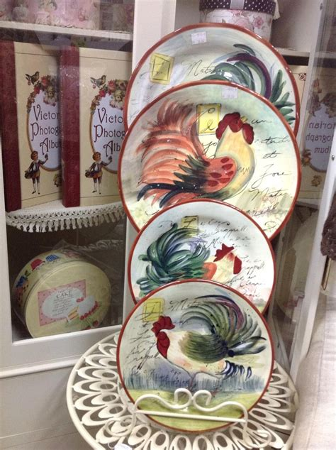 Decorative Chicken Plates - 1000 ideas about rooster plates on rooster