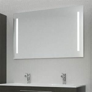 miroir avec eclairage 120x65cm With eclairage miroir salle de bain sans fil