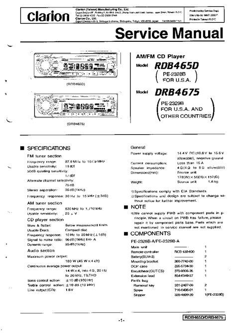 clarion model adb340mp wiring diagram 37 wiring diagram