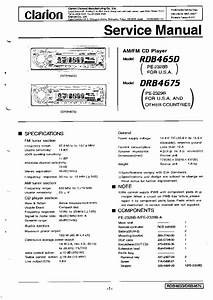 Clarion Db185mp Wiring Diagram