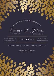 caesar leaf metallic wedding invitations With paper lust wedding invitations
