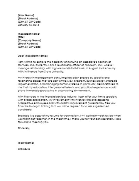 sles of cover letter for management consultant resume