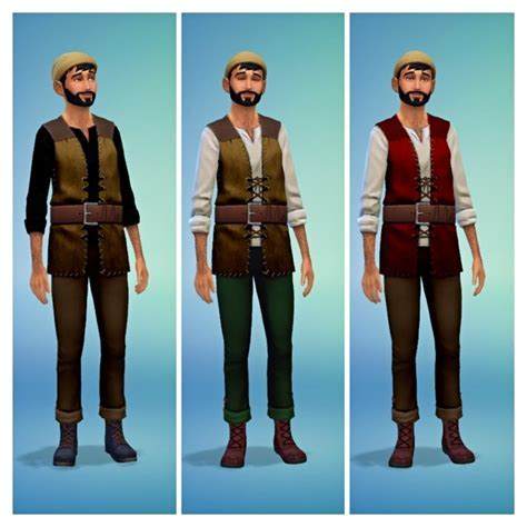 Medieval Peasant Costumes at SimDoughnut » Sims 4 Updates