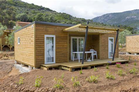 mobil home 3 chambres occasion chalet bois neuf samibois vanille confort 2016 les chalets de l 39 océan