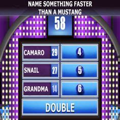 edwards garages family feud game top  answers