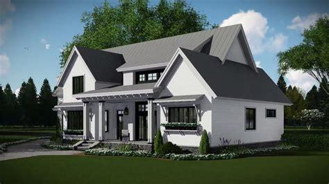modern farmhouse house plan   youtube