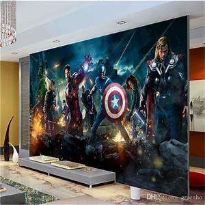 Large Size Wall Mural Hulk Captain Americ Thor Photo