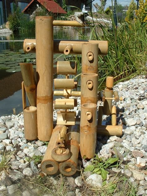 fontaine bambou cascade jeu d eau d 233 coration jardin patio tha 239 lande 12035 ebay