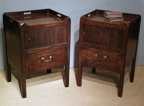 vintage end tables georgian mahogany tray top commodes pair of antique