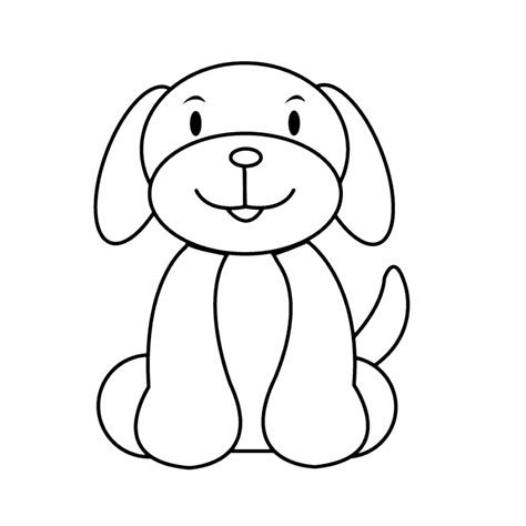 Kleurplaat Printen Puppie by Leuk Voor Puppie