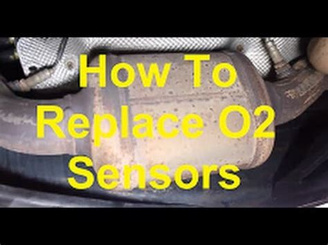 replace oxygen  sensors   car youtube