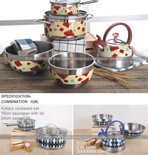 cooking pots pans stainless steel kitchen cookware limited interior