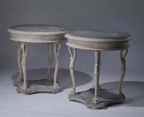 antique grey end table pair of antique grey blue painted wooden side 4092
