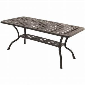 darlee series 30 patio coffee table in antique bronze dl30 b With bronze outdoor coffee table
