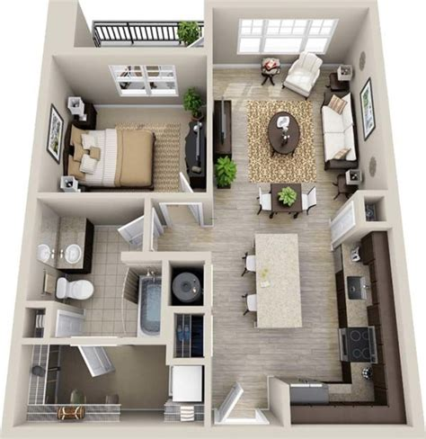 Top Photos Ideas For Small House Drawing by 3d Small House Floor Plans With One Bedroom 2015 Design