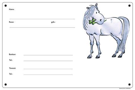 Boxenschild Pferd Word