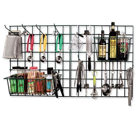 kitchen wall organizer system focus foodservice fwmkit1 ez wall prep and drying kit 6430