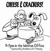 Crackers Cheese Drawing Getdrawings sketch template