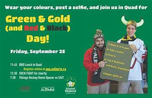UofA Augustana News Events GREEN GOLD RED BLACK
