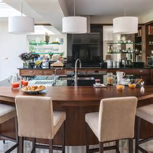 walnut kitchen ideas walnut kitchen with curved breakfast bar kitchen