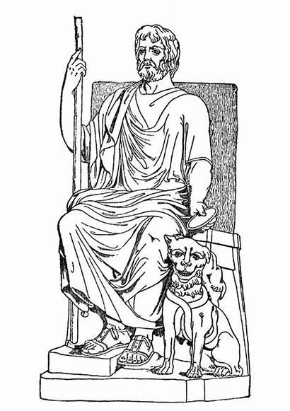 Throne Hades Sitting Coloring Netart Empty