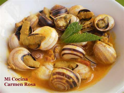 caracoles  la malaguena en salsa de almendras receta