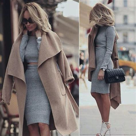 Coat Jacket Fall Sweater Fall Outfits Sweater Set