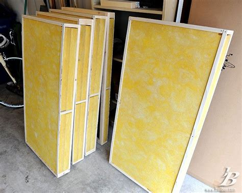 Sound Dening Curtains Diy by Diy Bass Traps Finished Panels Diy And
