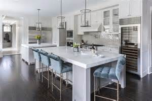 blue bar stools kitchen furniture gray kitchen island with blue velvet tufted counter stools contemporary kitchen