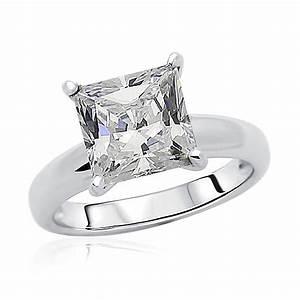 85mm rhodium plated silver wedding ring princess cz With rhodium wedding rings