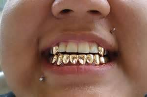 White Gold Bottom Grillz Teeth Fangs