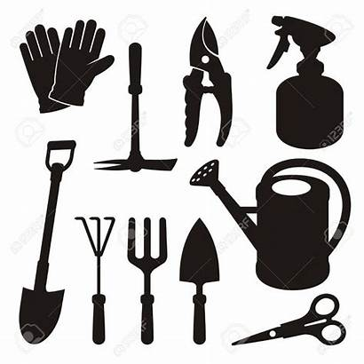 Gardening Silhouette Clipart Tool Silhouettes Tools Garden