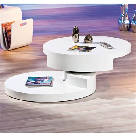 table basse ronde laque blanc table basse pivotante home design architecture cilif
