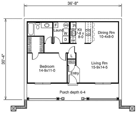 1 bedroom house plans 809 square 1 bedrooms 1 batrooms on 1 levels house plan 1438 all house plans