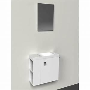 Meuble Avec Miroir : meuble lave mains avec miroir blanc blanc n 0 slim leroy merlin ~ Teatrodelosmanantiales.com Idées de Décoration
