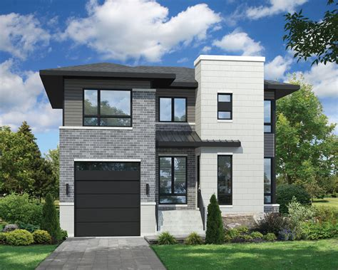 Two Story Contemporary House Plan 80806PM