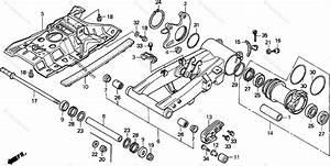 Honda Atv 2000 Oem Parts Diagram For Swingarm