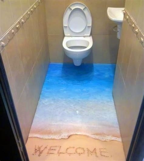 epoxy flooring bathroom 3d epoxy floors 3 pisos 3d pinterest toilets awesome and love this