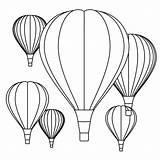 Coloring Air Balloon Balloons Printable sketch template