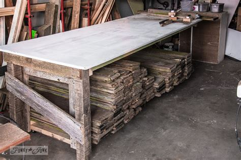 How To Build A Dining Room Table by Wood Storage Cart Under A Farm Table Workbenchfunky Junk